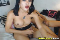 Sexy shemale dou love anal sex on cam