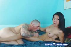 Sexy asian tranny gets banged hard