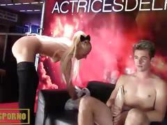 Hot italian pornstar blonde fist fucking