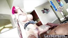 Tattooed redhead anna bell peaks auditions and gets hammered hard