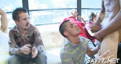 Horny gay boys at party video film 2