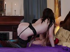 kasey warner, lesbian, nylon, fingering, orgasm, girl on girl, stocking, licking pussy