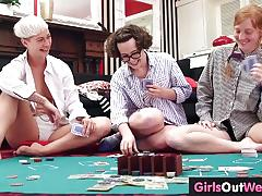 Three lesbian girls lick and rim each other
