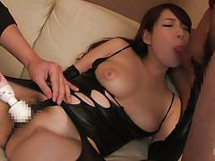 threesome, big tits, babe, japanese, blowjob, vibrator, cosplay, censored, double blowjob, tit fucking, cosplay in japan, erito, mio kayama