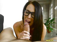 Sexy brunette cougar having a good time