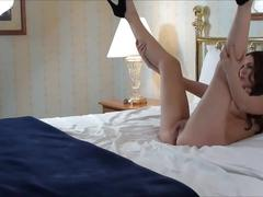 Beautiful college babe stripping