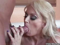 Blonde soccer milf monica mayhem puts her cum craving mouth to good use