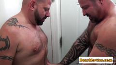 Muscular tattooed bears pounding ass