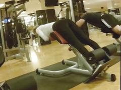 Sexy lady bend gym