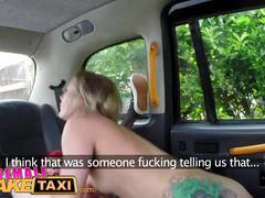 Female fake taxi sexy lesbian dominates redhead with rough lesbian sex