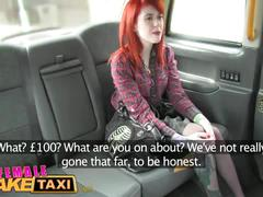 Female fake taxi sexy lesbian dominates redhead with rough lesbian sex