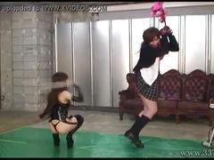 Japanese femdom emiru whipping and handjob