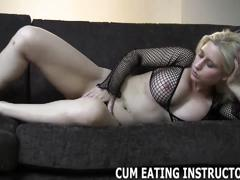 Eat your cum or you will be punished cei