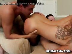 Superb fucking of the pussy and the anal canal