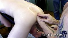 Cute young gay boy fist fucked first time saline injection for caleb