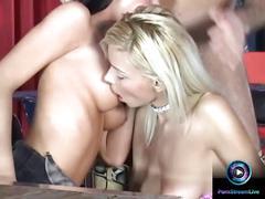 Vip room get a noisy threesome fuck with mya diamond and nikki blond