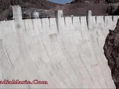 Claudia marie at the hoover dam