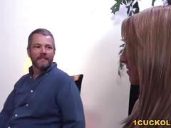 Valerie white takes black cock while her cuckold bf watches