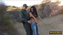 Latina slut with big boobs gets banged by law enforcer