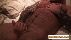 Muscular bear assfucked in the bathroom
