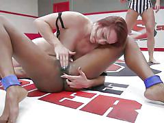 Naked wrestling always ends with hardcore fucking