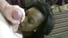 Mouth jizzed black teen