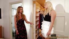 Alluring milf tribbing her new stepdaughter