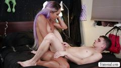 Super hot blonde ts mara and kory exchanging hot blowjobs