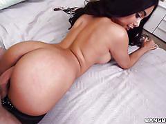 Busty ebony stunner aaliyah hadid gets her sweet pussy plowed