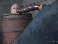 Mean mistress wraps up her slave