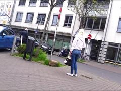 Perfect teen asses in public # 4