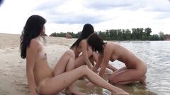 amateur, teen, nude, public, beach, outdoors, nudist