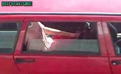Boy caught wanking in car