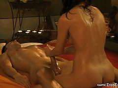 Intimate prostate exam and oiled up massage