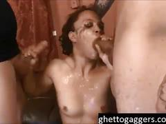 (new) slim bodied ashely luvbug gets another rough lesson at ghetto gaggers