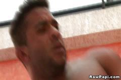 Latino gay hard anal bareback fucking