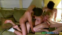 Gay boy teen emo bondage and group sex movie erik tristan and aron are ready for a