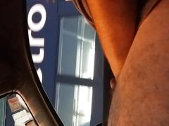 Flashing cock for asian lady on bus