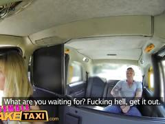 Female fake taxi tattooed hunk blows his big load into sexy drivers mouth
