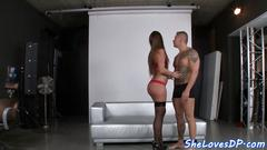 Spitroasting babe jizzed on perfect ass