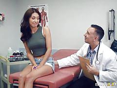 milf, hospital, doctor, brunette, patient, undressing, pussy eating, pussy rubbing, medical examination, doctor adventures, brazzers, keiran lee, kara faux