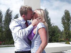 milf, blonde, outdoor, deepthroat, doctor, busty, titfuck, from behind, on knees, rocco siffredi, fame digital, erik everhard, rachele richey, arteya
