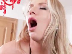 Must see - extra incredible blonde lesbians in stockings go anal!