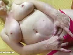 Superb big tits cougar anal dildo and black cock anal fuck for cum craving woman