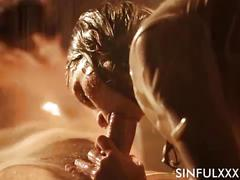 Super wet slow sensual blowjob
