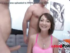 asshole, blowjob, group, deepthroat, toy, bigcocks, doublepussy, 3guys1girl
