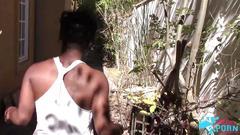Tamra millan fucked in backyard
