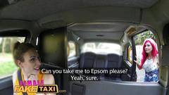 Female fake taxi redhead fingerfucked by cabbie