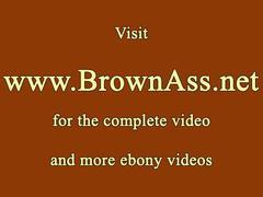 Roundass ebony babe banged doggystyle