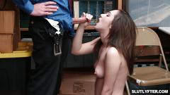 Lily jordan giving the lp officers cock a head